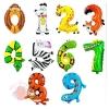 Фольгированные шары Цифры  36 Зоопарк с гелием
