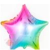 Фольгированный Шар (18''/46 см) Звезда, Нежная радуга, Градиент, 1 шт.