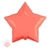 Фольгированный Шар 21/53 см Звезда, Коралловый, 1 шт.