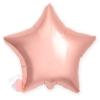 Фольгированный шар (21''/53 см) Звезда, Розовое Золото