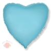 Фольгированный Шар 32/81 см Сердце, Голубой, 1 шт.