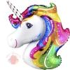 Фольгированный шар Голова единорога Unicorn Head