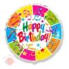 Фольгированный шар Ленты и звёзды Birthday party