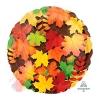 Фольгированный шар Листья осенние S30