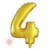 Фольгированный шар с клапаном Цифра, 4 (16/41 см)