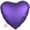 Фольгированный шар Сердце Фиолетовый Сатин Люкс в упаковке / Satin Luxe Purple Royale Heart S15
