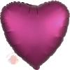 Фольгированный шар Сердце Гранат Сатин Люкс в упаковке / Satin Luxe Pomegranate Heart S15