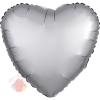 Фольгированный шар Сердце Платина Сатин Люкс в упаковке / Satin Luxe Platinum Heart S15