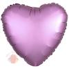 Фольгированный шар Сердце Розовый Сатин Люкс в упаковке / Satin Luxe Flamingo Heart S15