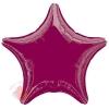 Фольгированный шар Звезда Бургундия / Burgundy Star S15