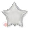 Фольгированный шар Звезда, Серебро 18/46 см