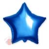 Фольгированный шар Звезда, Синий 18/46 см