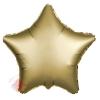 Фольгированный шар Звезда, Золото, Сатин 18/46 см