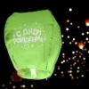 Фонарик желаний С днем рождения звездочки, форма купол, микс цветов
