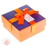 Коробка подарочная квадрат 11*11*5,8 см на праздник фиолетовая