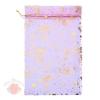 Мешочек органза С днём рождения фиолетовый 20*30 см