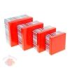 Набор коробок 4 в 1 квадрат Полосатый рейс красный