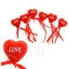 Сердце сувенирное на палочке блёстка 847185