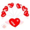 Сердце сувенирное на палочке ткань Крылья любви