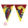 Гирлянда-вымпелы Человек-Паук. Супер сила Ultimate Spiderman Power  14,3 см × 212 см