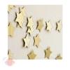 Гирлянды бумажные из звезд (handmade) 7см 4 м Золото