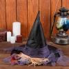 Карнавальная шляпа «Ведьмочка», р-р. 56-58 см