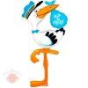 Ходячая фигура Аист Спецдоставка Мальчик с гелием