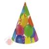 Колпак бумажный Праздник шарики и серпантин (10 шт.)