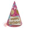 Колпак бумажный С Днем рождения шары и гирлянды набор 6 шт