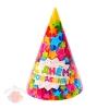 Колпак бумажный С днем рождения звезды, (набор 10 шт.)