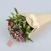 Конус для цветов с бантом из рифленого картона 26,5 х 18 х 5,5 см