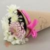 Конус для цветов С любовью! с печатью розовый