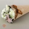 Конус для цветов С праздником с тиснением шоколадный