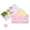 Конверт для денег 8 марта, тюльпаны на досках