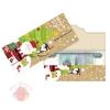 Конверт для денег формовой С Новым годом, Дед Мороз, 17,5 х 8 см