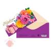 Конверт для денег «Поздравляем!» цветы, 16.5 × 8 см