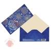 Конверт для денег С Новым годом шары синие 16,5 х 8 см