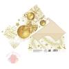 Конверт для денег С новым годом, золотые шары, 16,5 х 8см