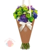 Конверт – конус для цветов Горошек, 8 × 26,5 см