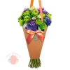 Конверт – конус для цветов Только для тебя, 8 × 26,5 см