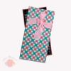 Коробка Деловой с розовым бантом прямоугольник  21,3 х 10,7 х 3,3 см