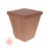Коробка для цветов с крышкой и ручками Крафт 20*34*40 см