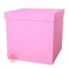 Коробка для воздушных шаров, Розовый, 60*60*60 см, 1 шт.