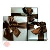 Коробка Изящный подарок с бантом Жемчужный большая квадрат 19 х 19 х 4 см