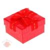 Коробка подарочная квадрат фактура 5,5 х 10 х 10 см, красный