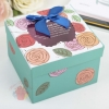 Коробка подарочная с окном 11,5 см × 11,5 см × 8,5 см