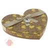Коробка подарочная сердце для конфет Коричневый 29,5 см × 26 см × 4 см