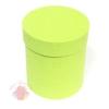 Коробки круглые бумага матовая 23*21 Однотонная салатовый