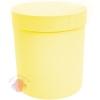 Коробки круглые бумага матовая 23*21 Однотонная Желтый