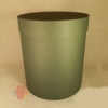 Коробки круглые Крафт однотонный 23*21 зеленый